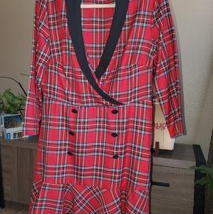 Plaid tartan dress